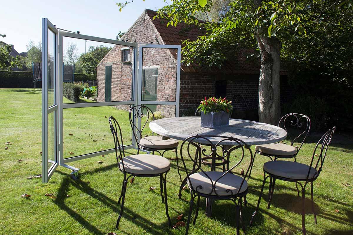 pare-vent mobile pour jardin